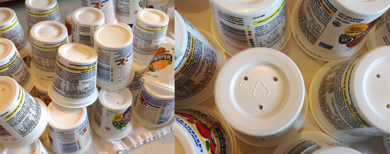 Eat yogurt and recycle!