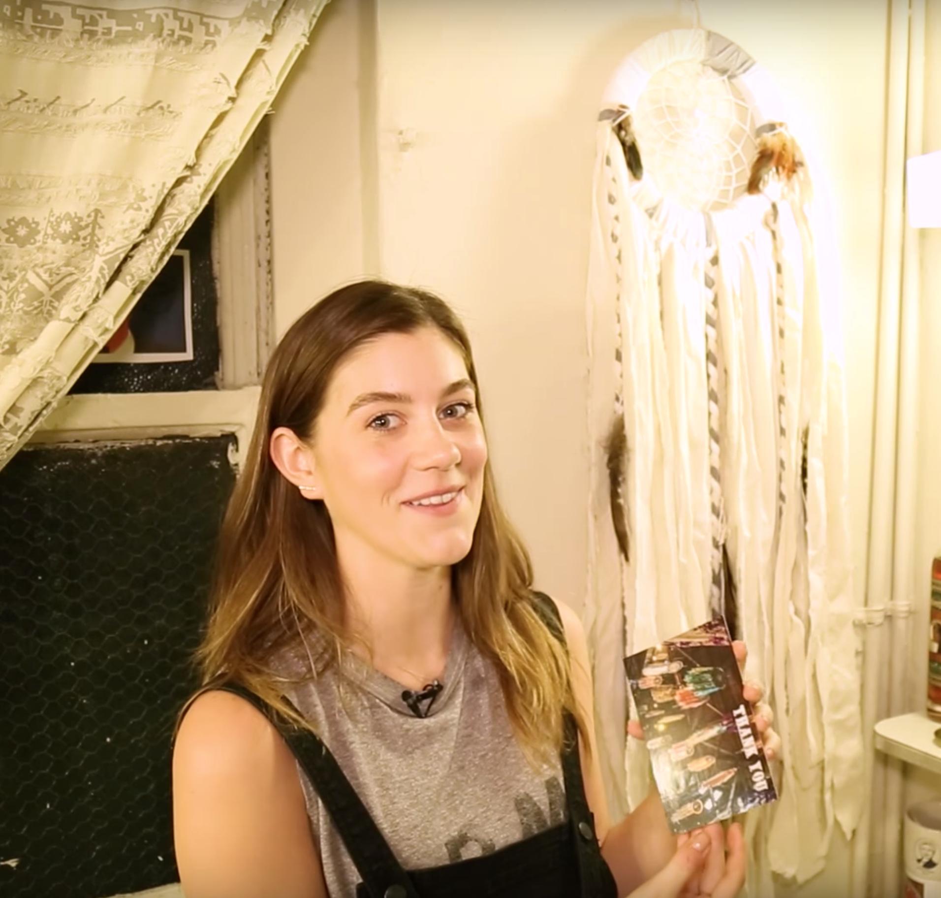 Broadway.com -My Space: Laura Dreyfuss of DEAR EVAN HANSEN - SpokeWoven dreamcatcher #1 of her 5 favorite things in her dressing room