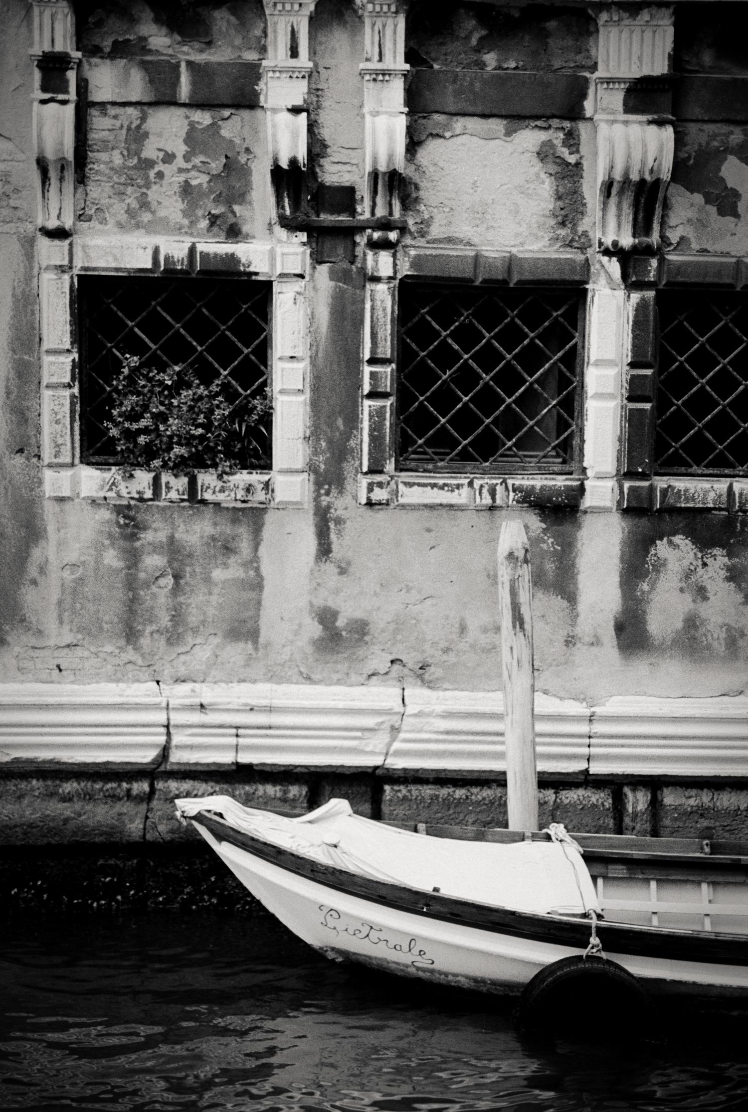 docked boat, Venice, Italy 2001.