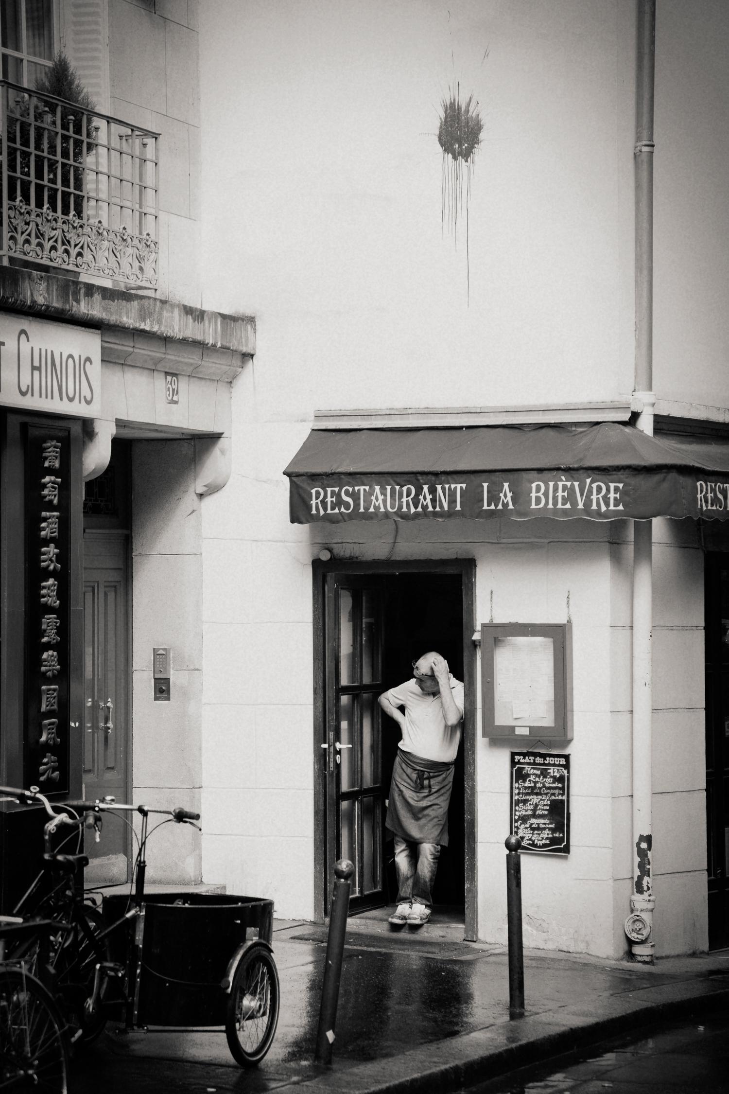 restaurant worker, Paris 2014.