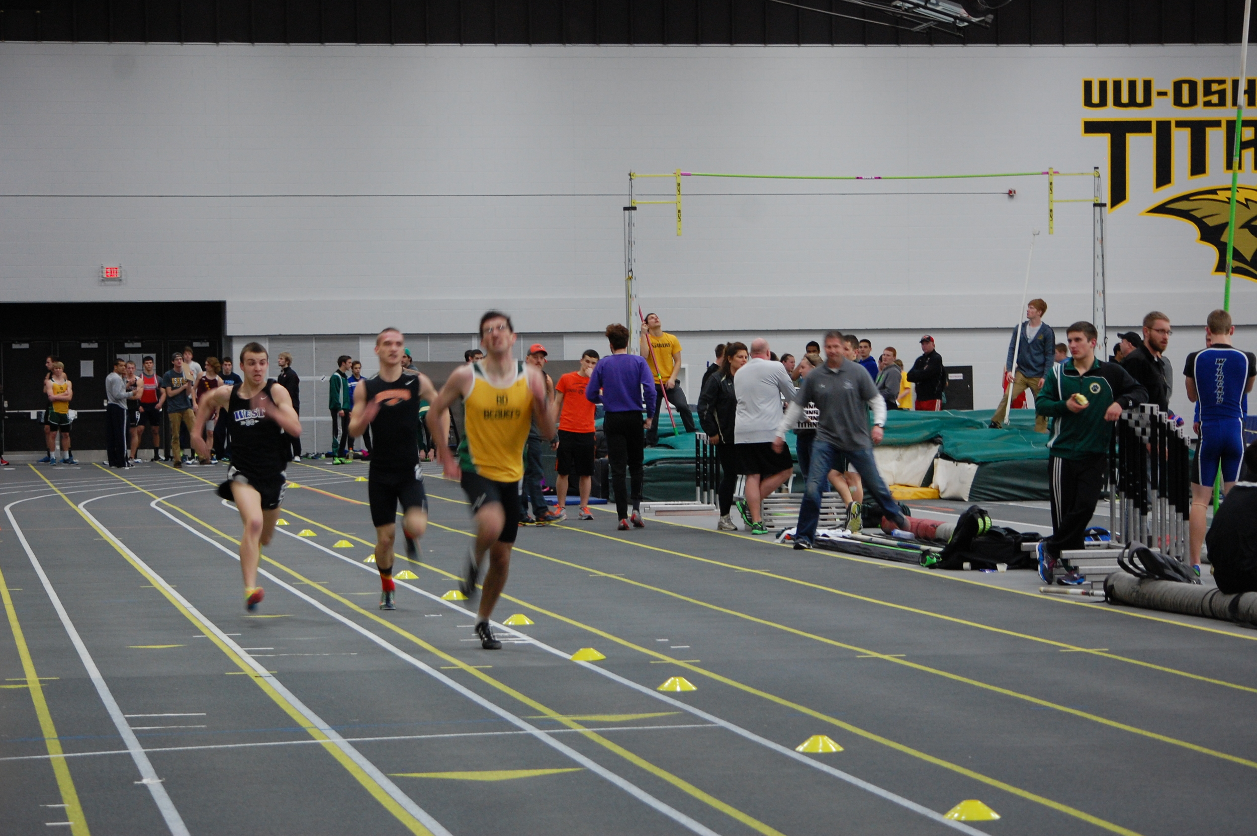 Jake Rost slowly edges in front of the competition.