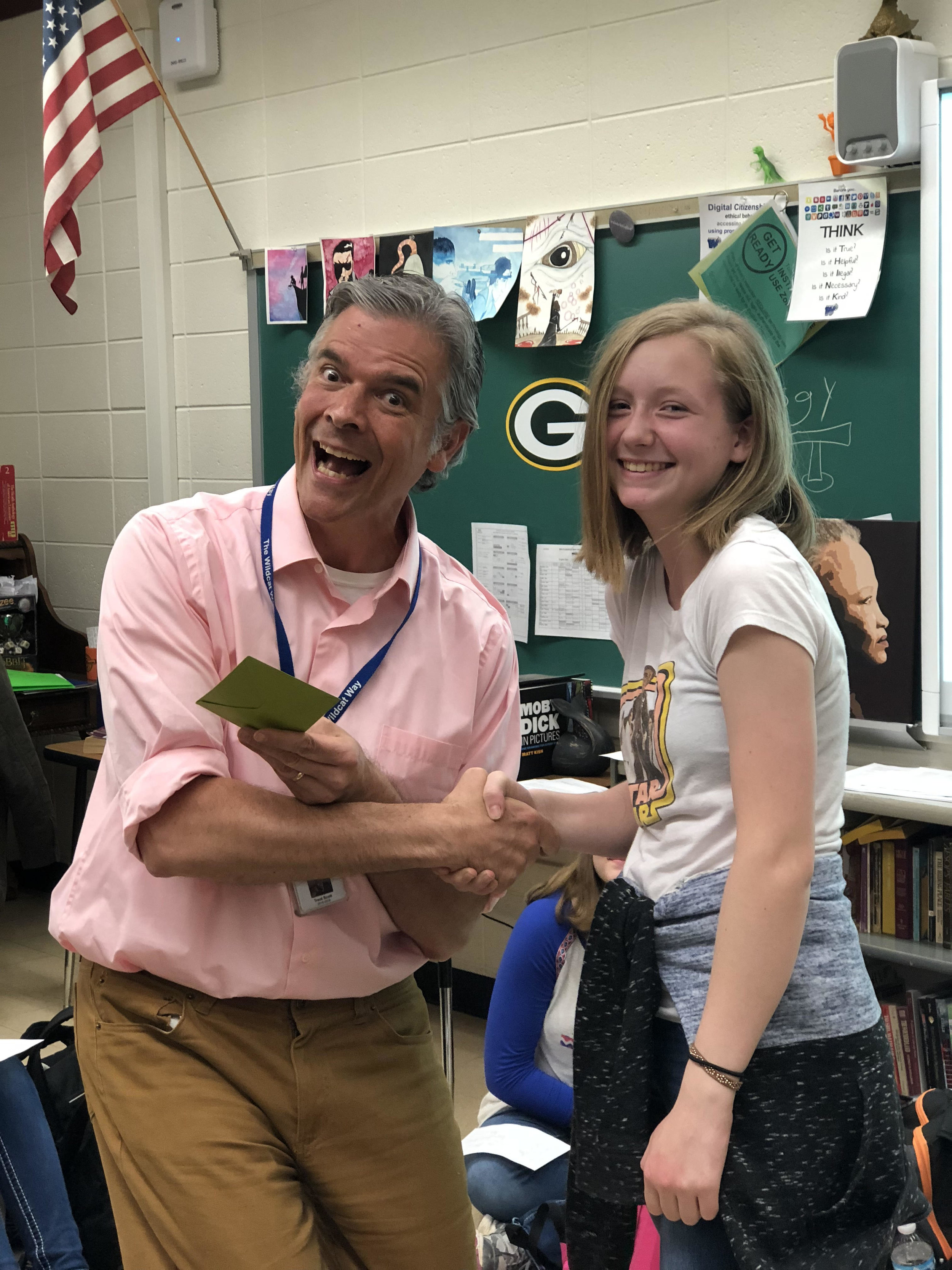 Paige Helfrich - Paige wrote an opinion column for the spread, and came in for help multiple times as a new writer to refine her article. She stuck around and showed up at production too! Thanks for your help Paige!
