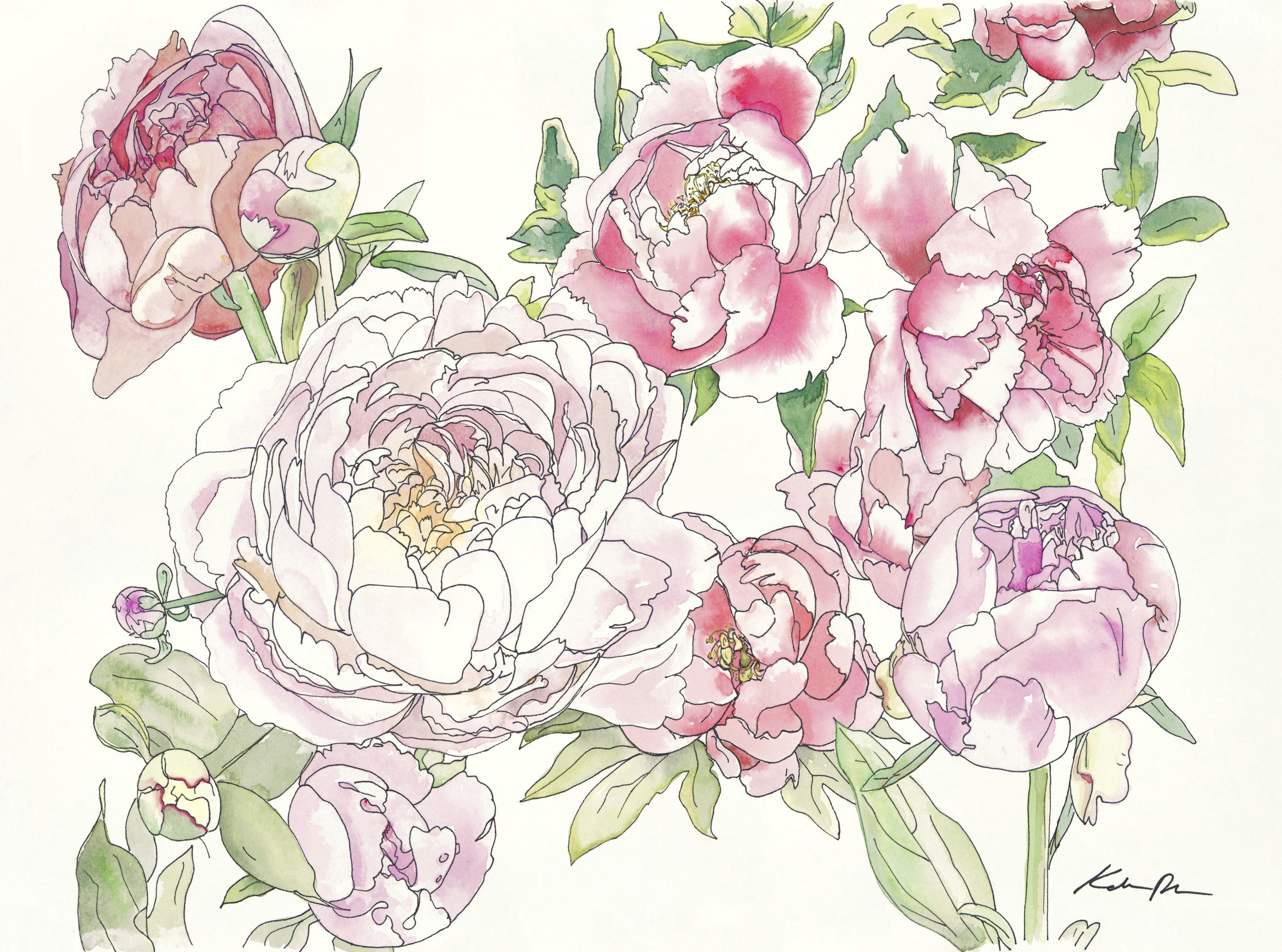 SOLD Peony Bouquet