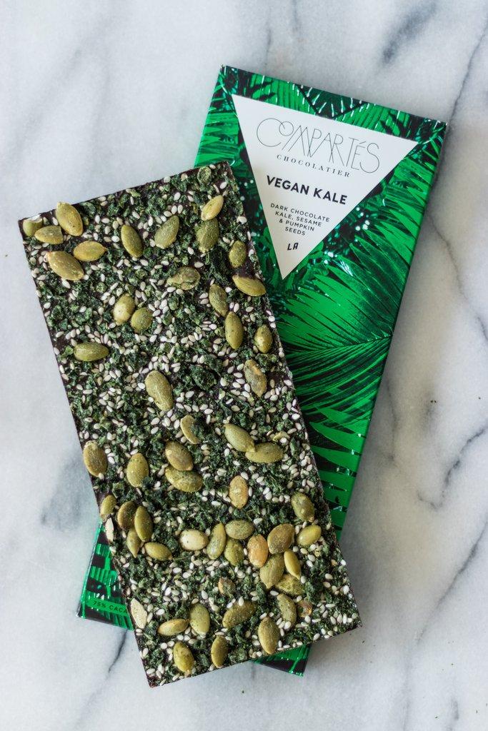 Vegan Kale Dark Chocolate Bar $10