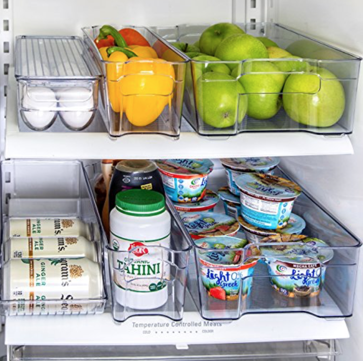 Plastic Organizing Bins - set of 6 $30