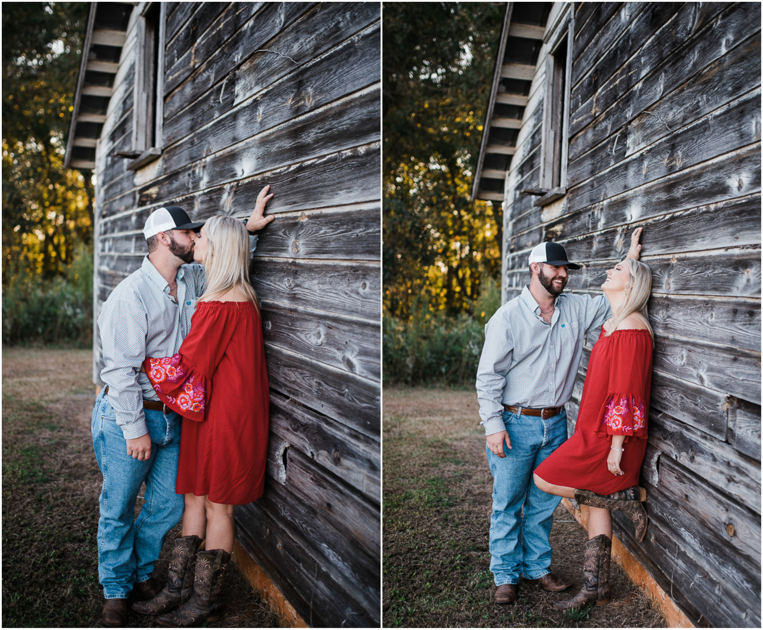 Barn Engagement Session, Fall Engagement Photos, Red Dress, Rustic.jpg