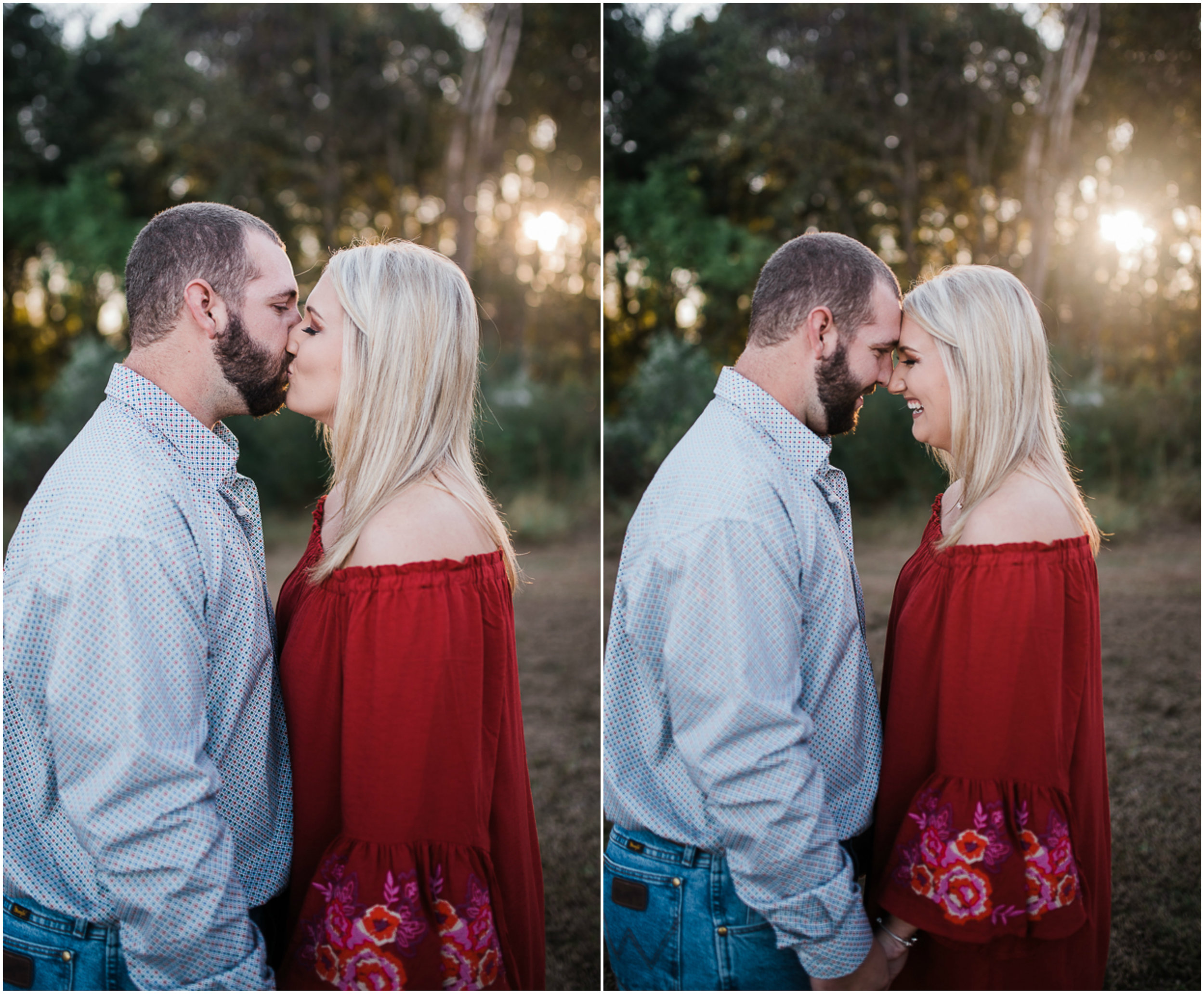 Fall Engagement Session, Red Dress, Rustic Engagement Session, Sunset Engagement Photos.jpg
