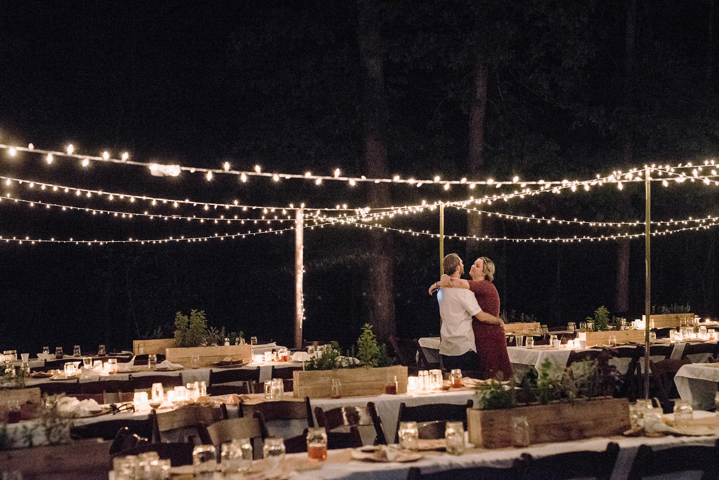Outdoor Party, Backyard Party, String Lights
