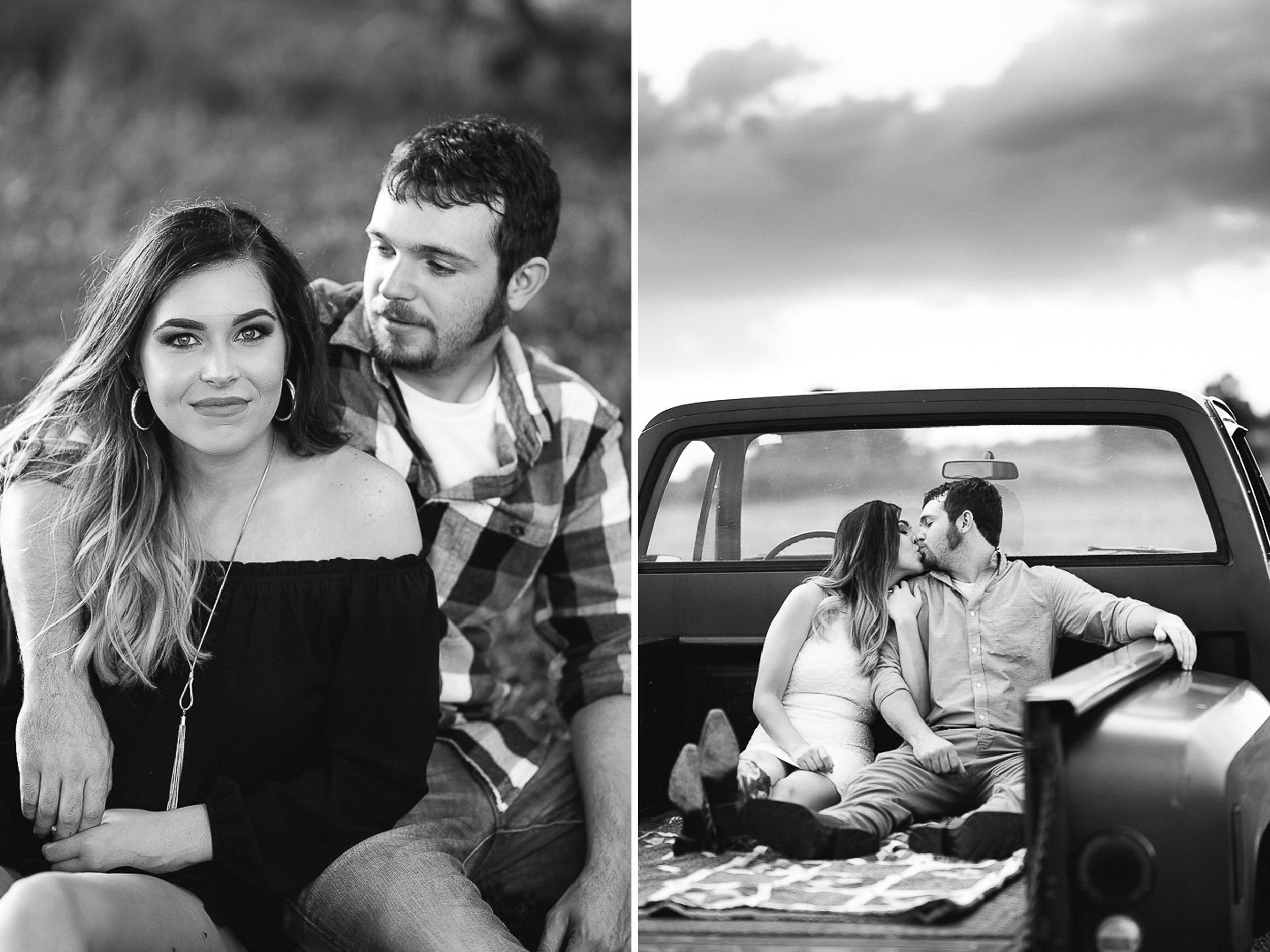 Field Engagement Portraits, Truck, Sunset, Dancing, 09.jpg