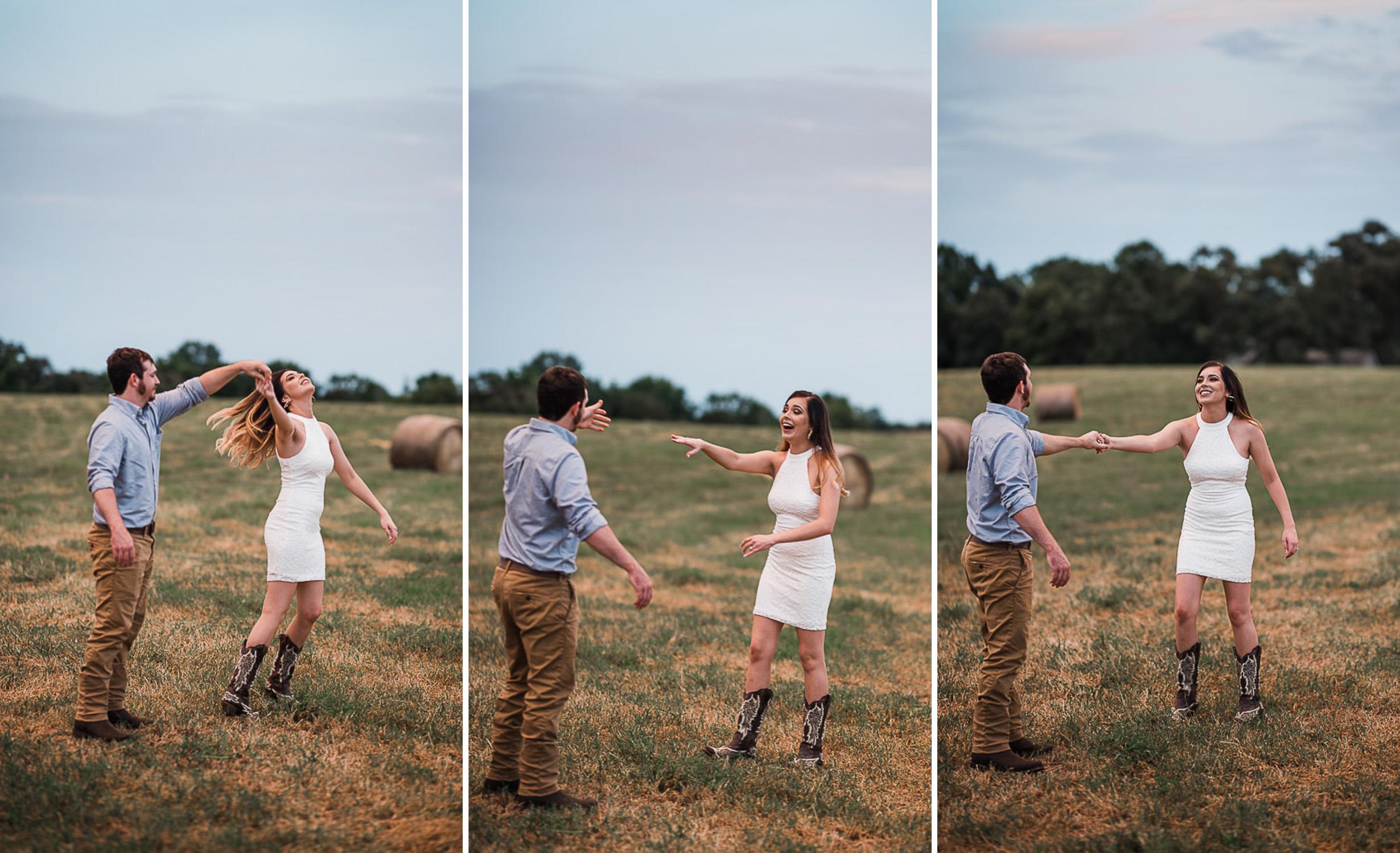 Field Engagement Portraits, Truck, Sunset, Dancing, 14.jpg