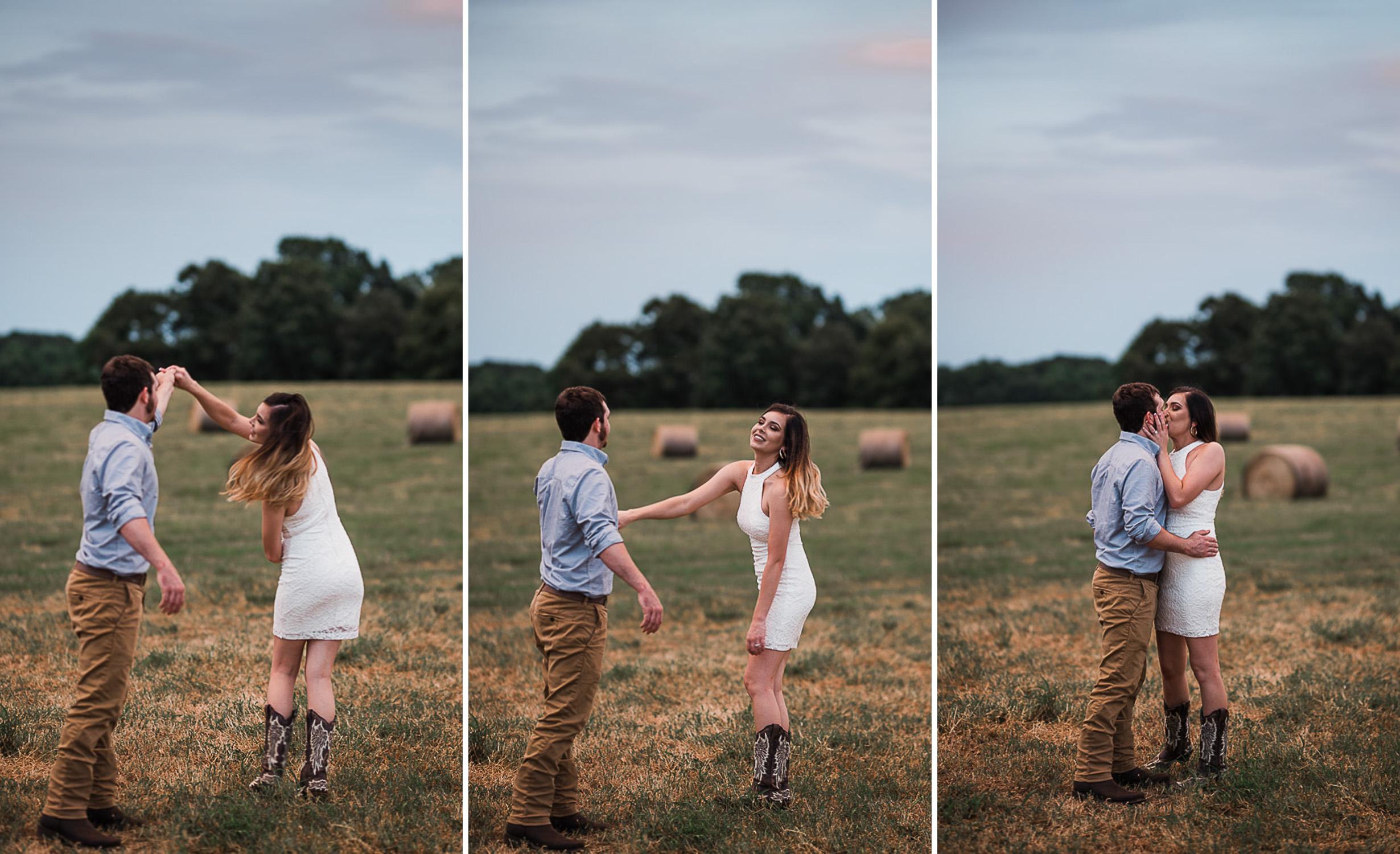 Field Engagement Portraits, Truck, Sunset, Dancing, 15.jpg