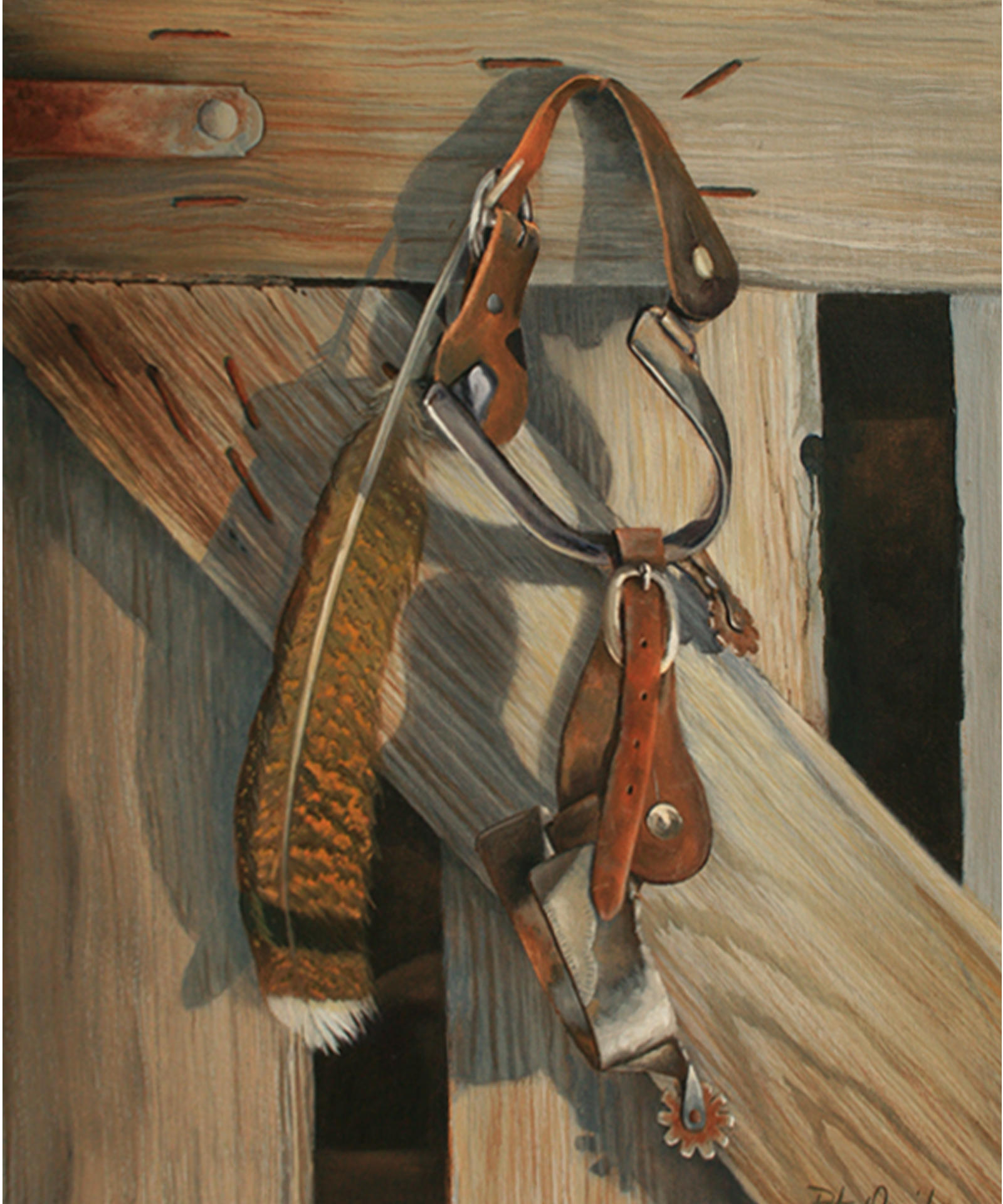 Feather and Spurs 16 x 20 oil on canvas Pete Quaid.jpg