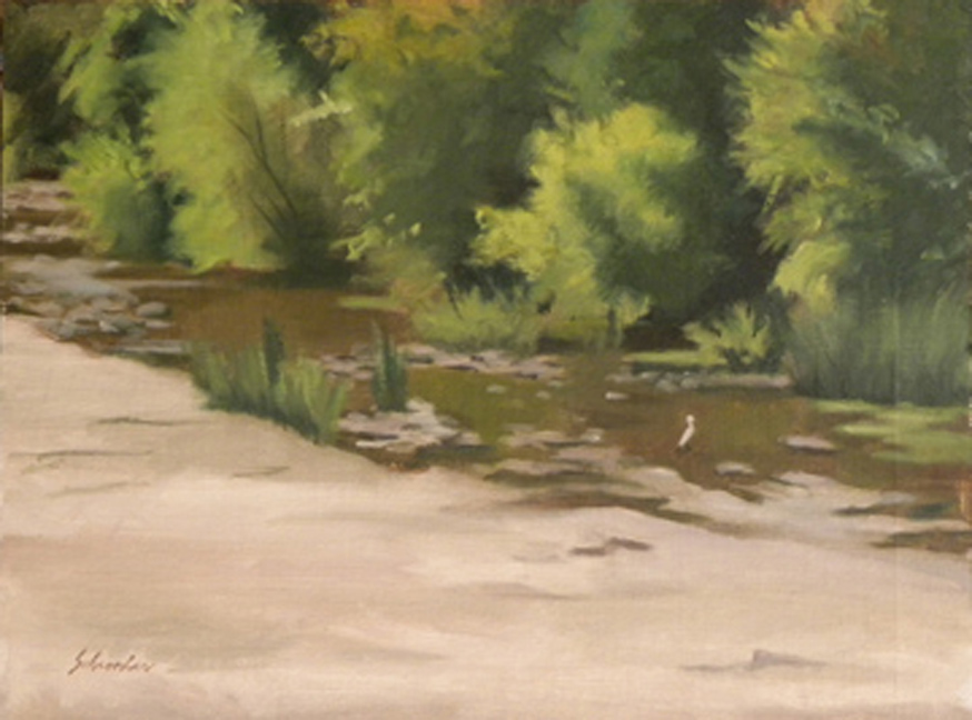 Five mile creek 12x16 oil mike schroeder.jpg