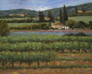 01 Wine and Lavendar, Provence in the Springtime.24x30.oil.crowe.judy.jpg