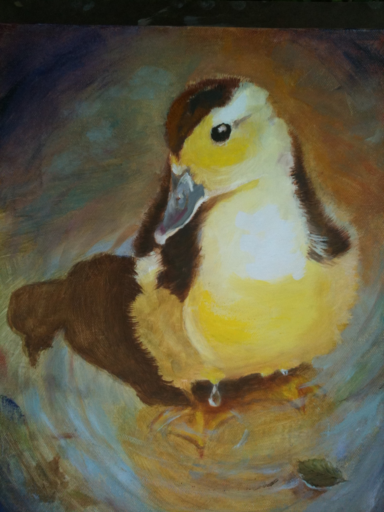 TerryePhilley-Muscovey Duckling_14x11_oilcanvas.jpg