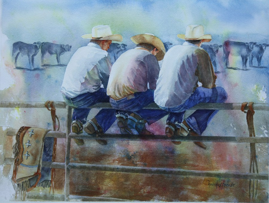 AnnHoffpauir-CowboyConference-12x16-watercolor.JPG