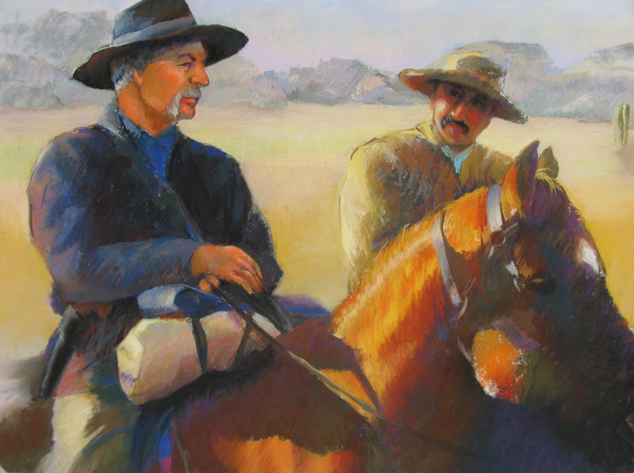 Carolyn Hancock Pancho and Lefty 18x24 Pastel.jpg