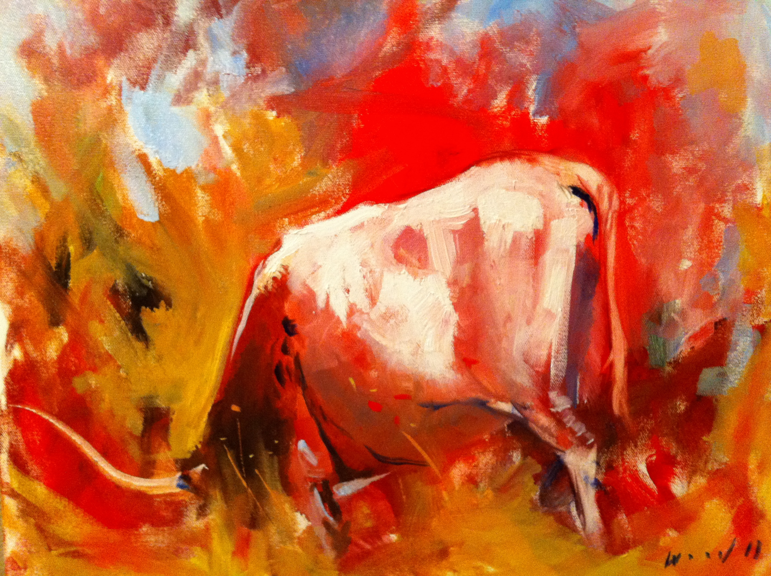 Darin Wood On Fire 16X20 Oil Canvas.JPG
