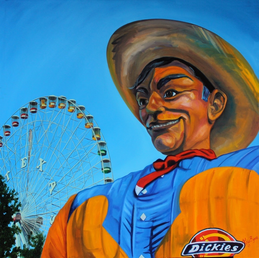 Kristine Byars Old Big Tex 48x48 Oil Canvas.jpg