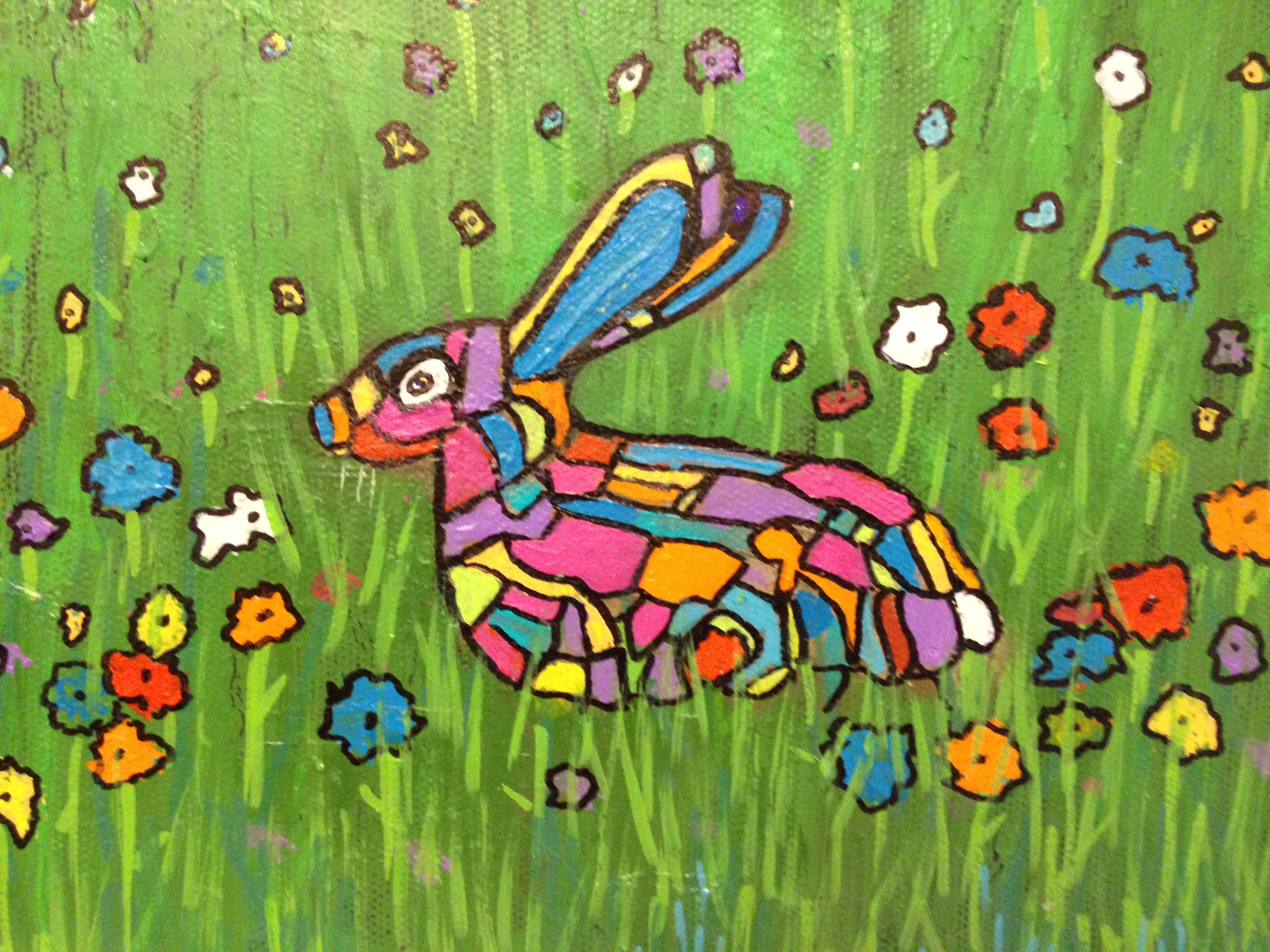 Roseanne Snyder Bunny in the Grass 8x10 canvas.JPG