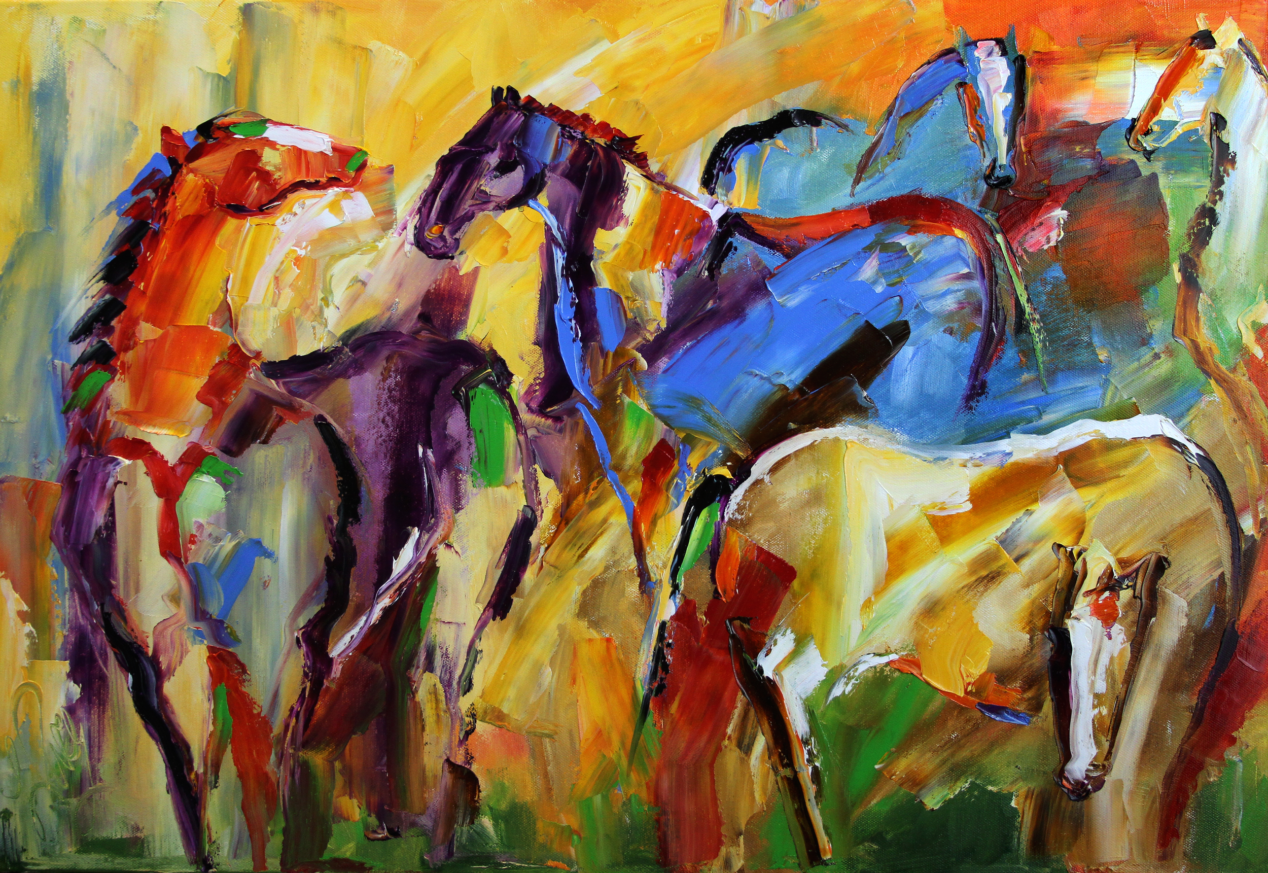 tem p300 Grazing 18 x 27 Oil on Canvas Laurie Pace.png