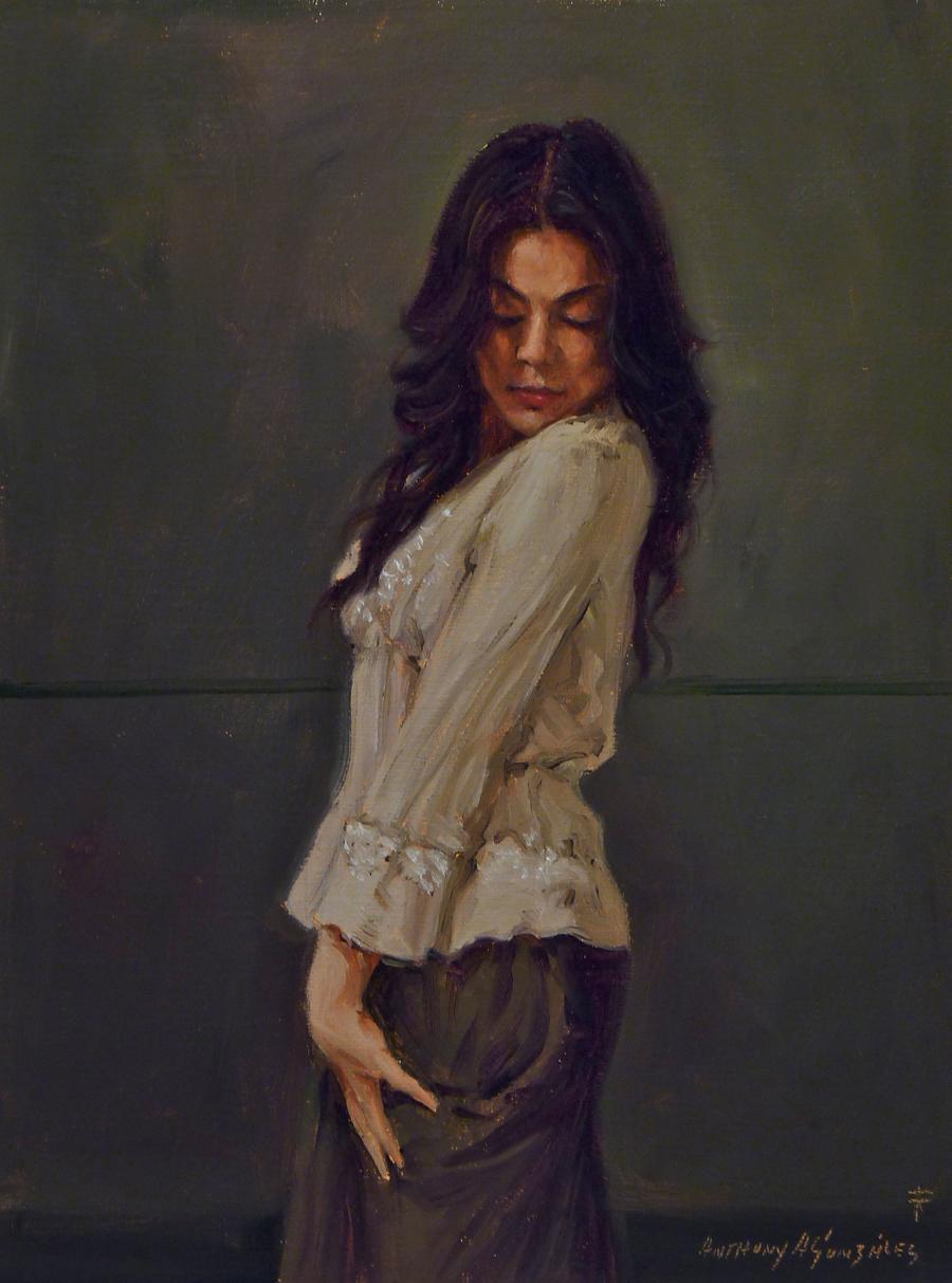 "HM ""Does it Show"" Anthony Gonzalez Oil on Canvas"