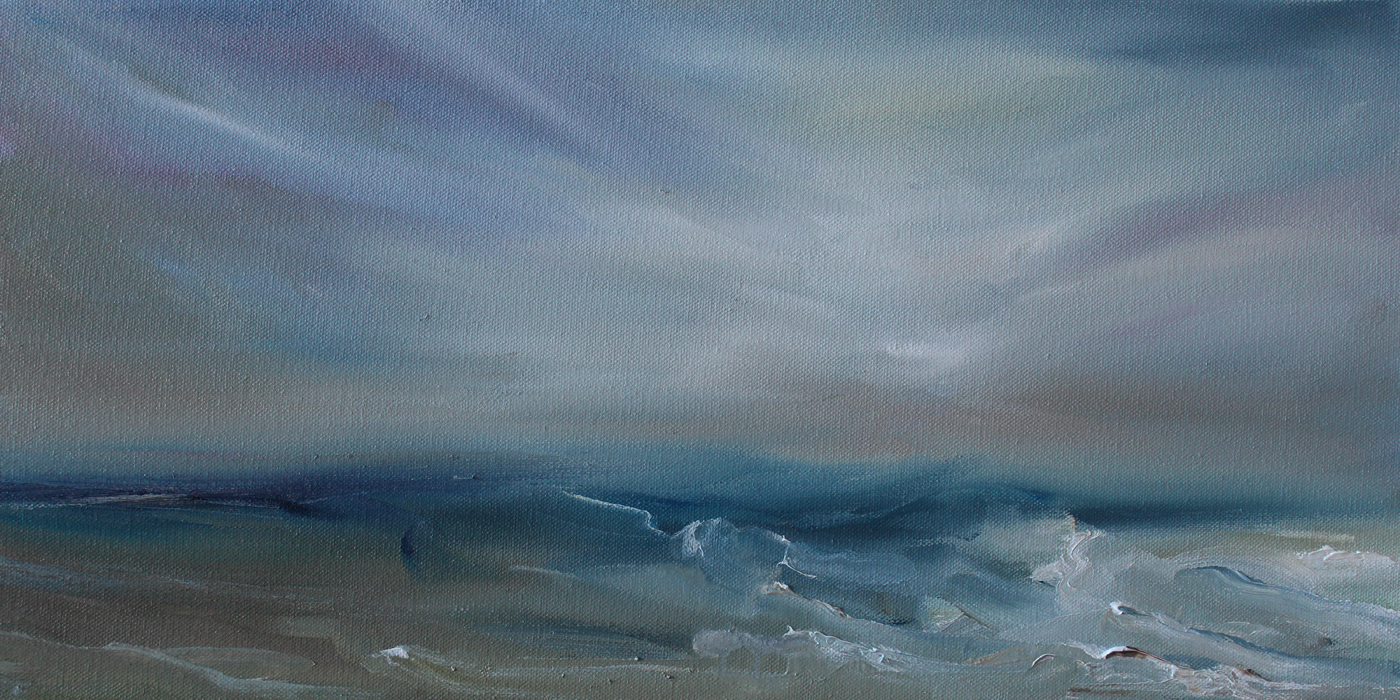 Kristine Kainer, The Fathomed Sea, oil