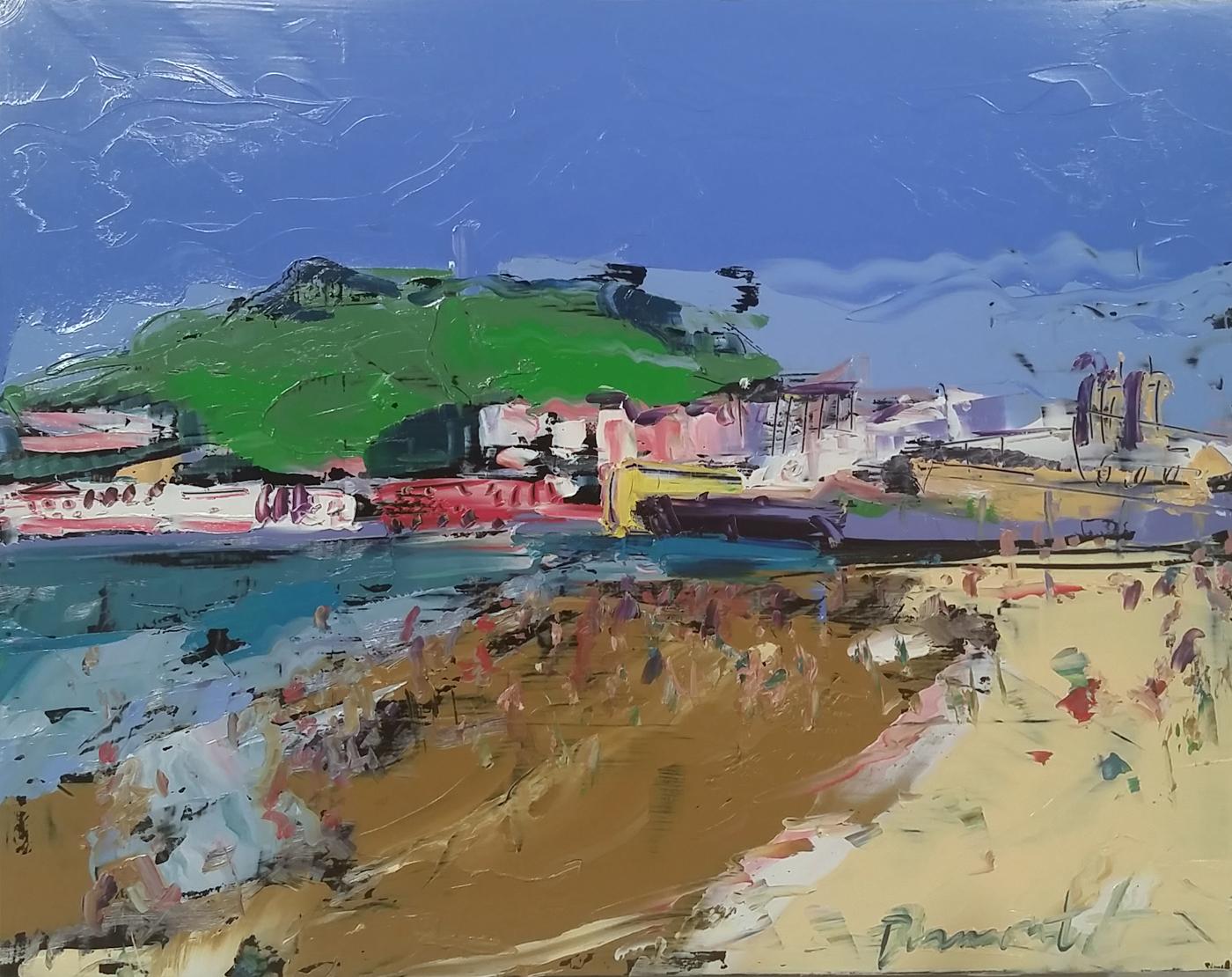 Linda Dumont, San Sebastian Coastal Memory, oil