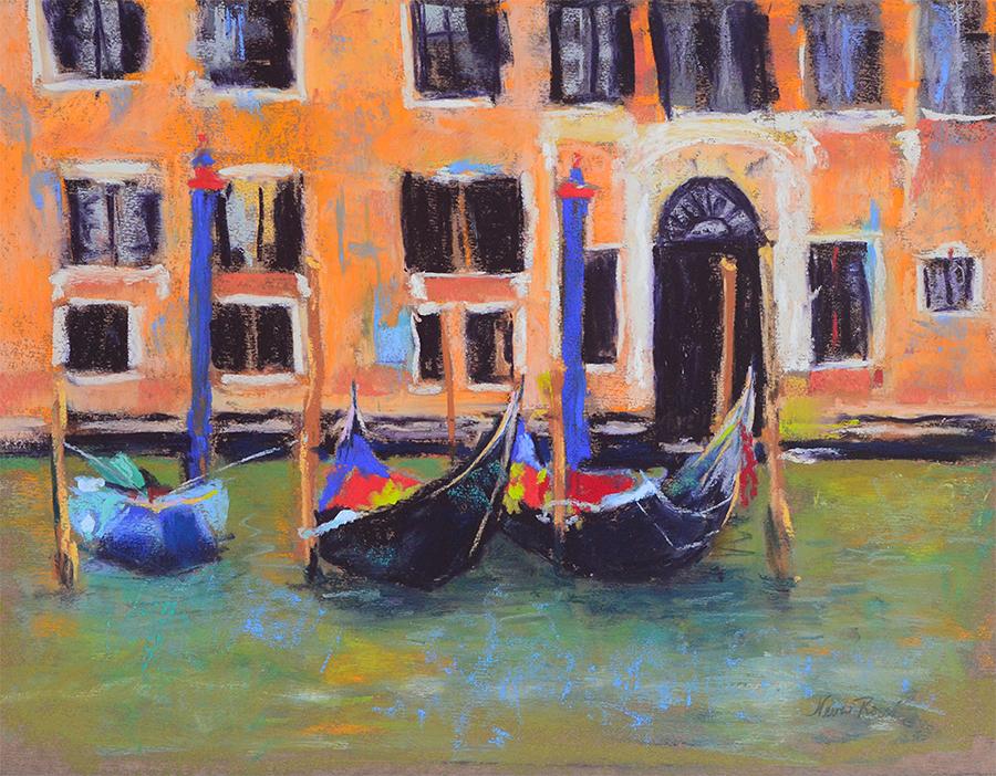 Neva Rossi, Grand Canal Venice, pastel