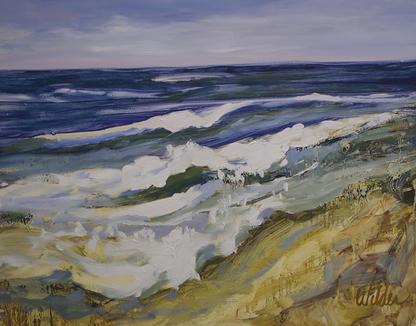 """Judy Wilder Dalton, GRAND PRIZE, """"Surf"""" oil 11x14 inches"""