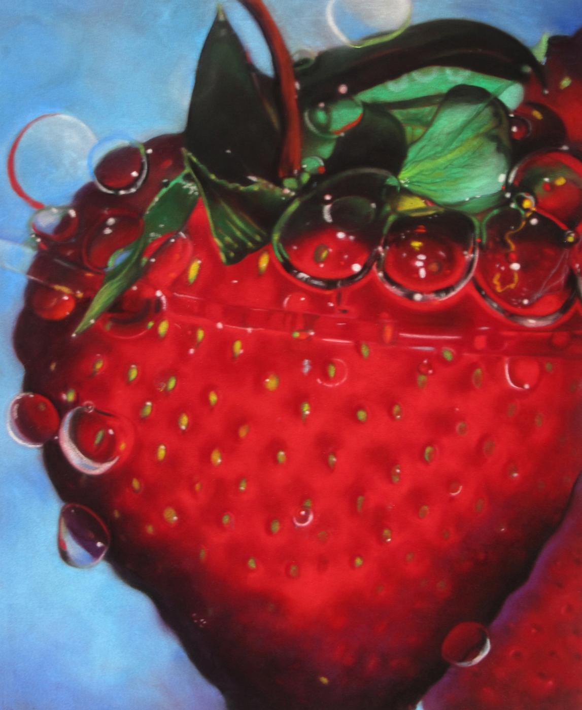 "Barbara Mason, HONORABLE MENTION, ""Juicy"" pastel 28x23 inches"