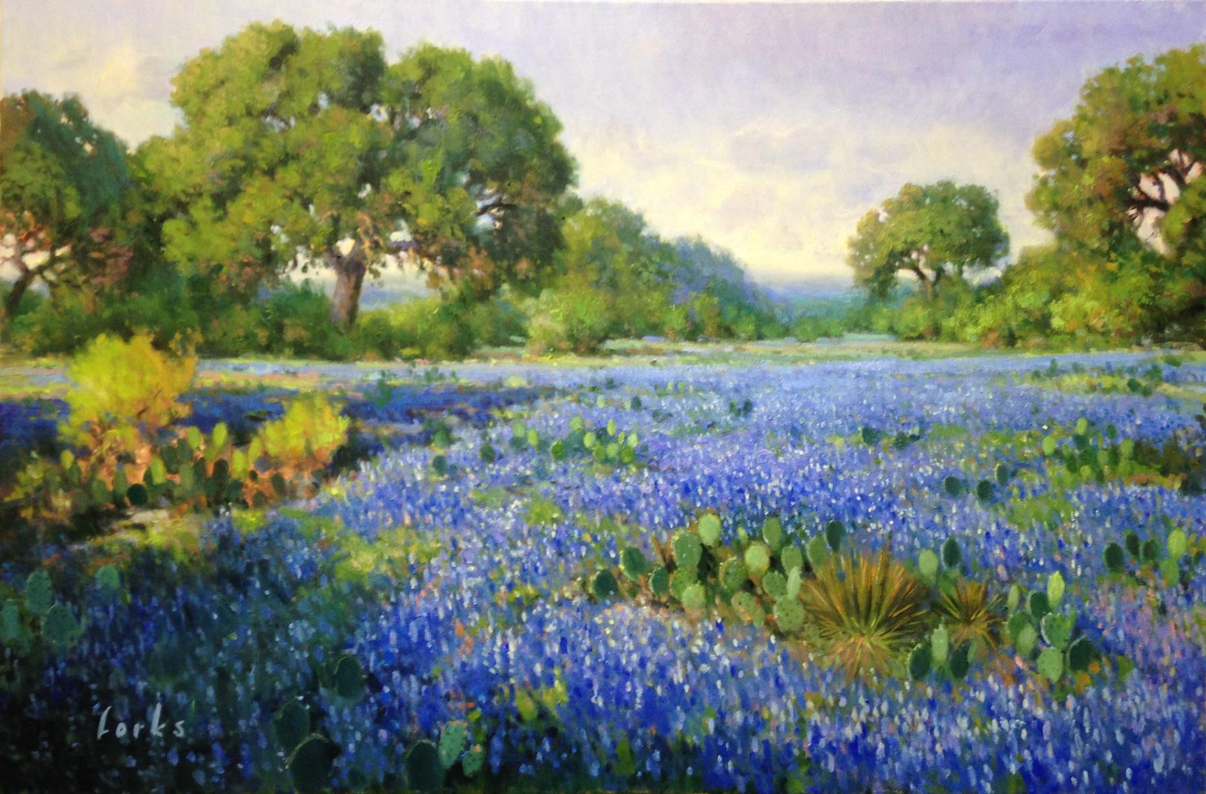 David Forks-Sunny Morning Bonnets-24x36-Oil-L.jpg