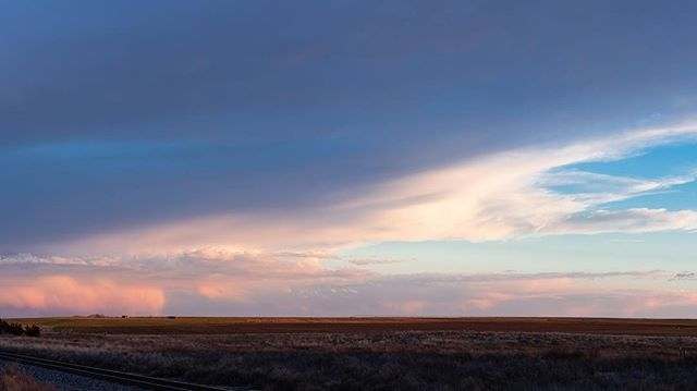 From a recent drive through the huge skies of West Texas. [Texas - April 2019 - #optoutside #getoutstayout #solarlife #explore #wanderlust #sunset #spiritofthewest #soulofthewild]