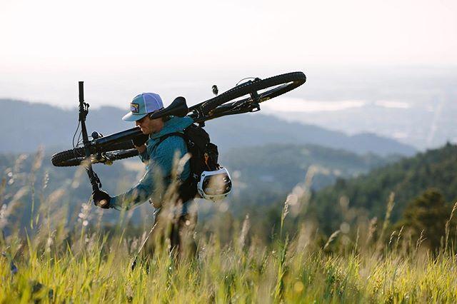 On the way up w/ @danecroninphoto [Boulder, CO - July 2019 - @senderopc #optoutside #getoutstayout #solarlife #explore #wanderlust #mountainbiking #spiritofthewest #soulofthewild]