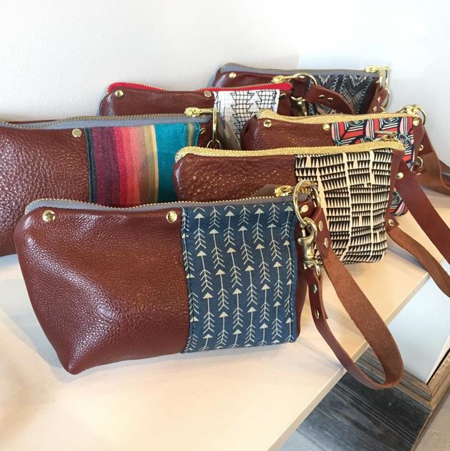 Leather, Cotton & Brass Wristlets