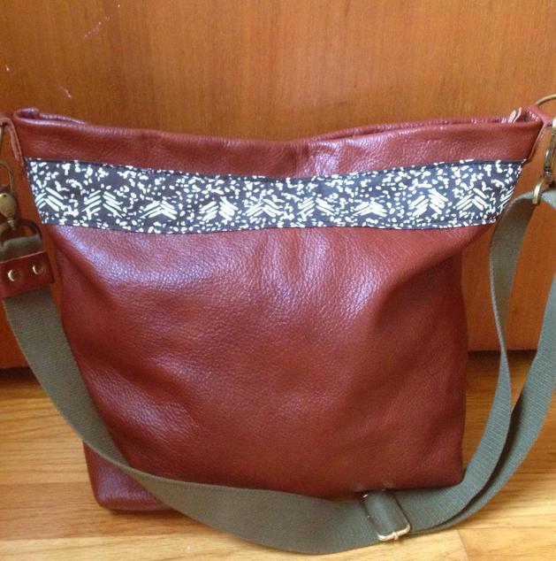 Handbag. Leather & Cotton.