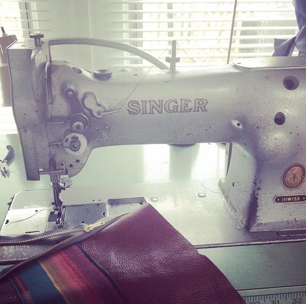 Vintage Singer I use for leather work.