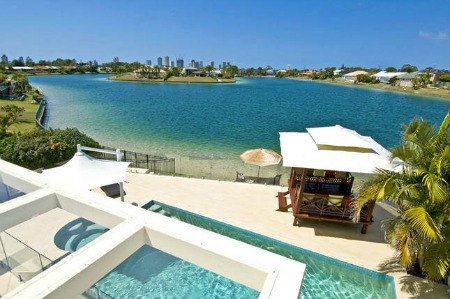 Photo courtesy of HomeAway - Award Winning Broadbeach waterfront holiday home available for rent