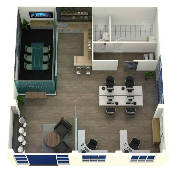 3D Floorplan of proposed office
