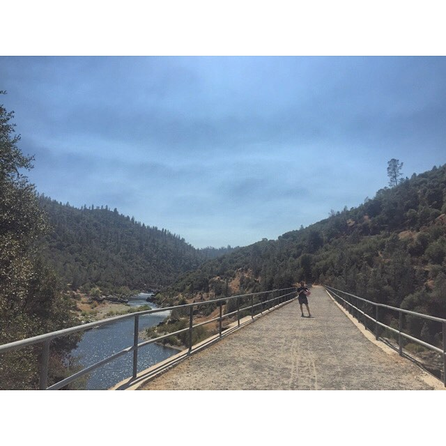 #railroadbridge #americanriver @astatum80  (at Mountain Quarries Railroad Bridge)