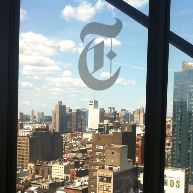 Shooting for #posse at the New York Times building today. #possefoundation #nyt #inspiring