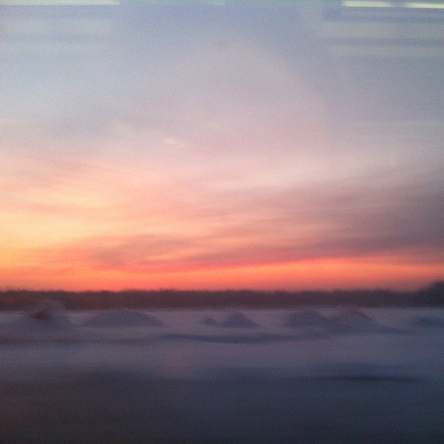 #sunrise from the train. #tooearly #toocold