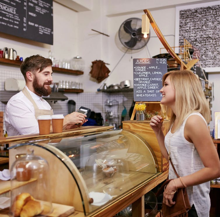 Ordering coffee is part of many people's daily ritual, but don't expect a cafe on every corner outside the city.  Jacob Lund/Shutterstock