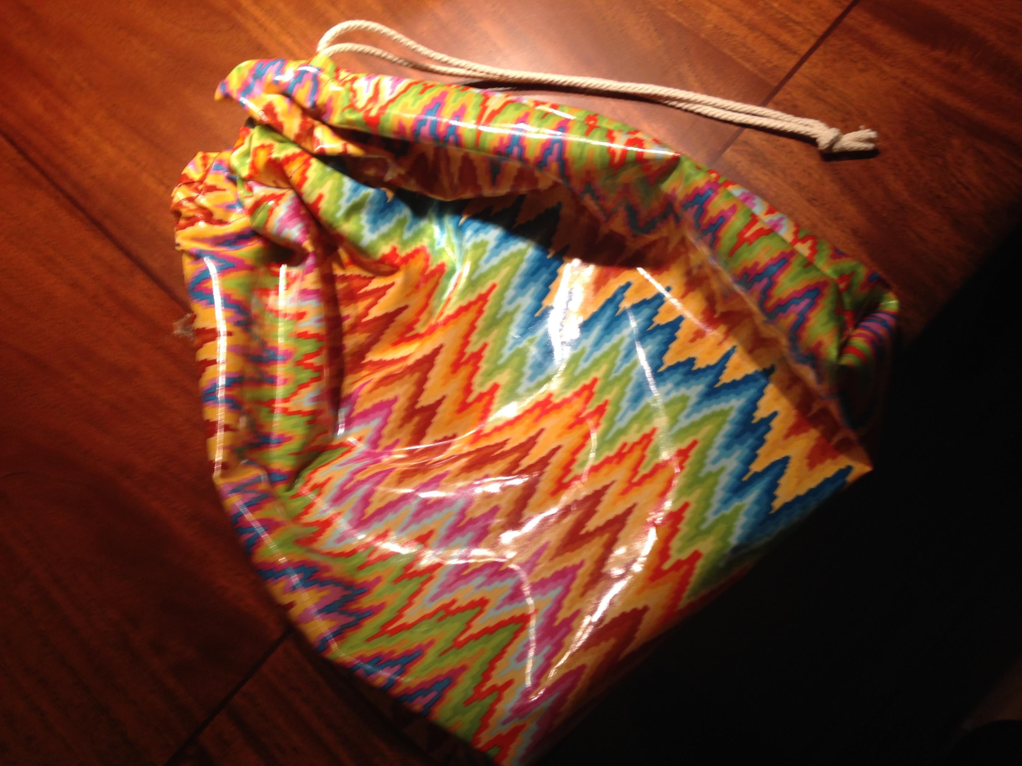 laminated cotton drawstring bag DIY
