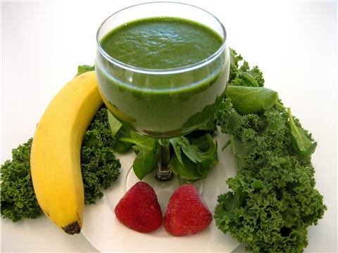Kale, Spinach, Banana, Berries, etc