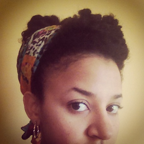Twist-Out Updo with Scarf