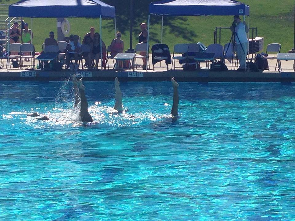 synchronized swimming black girl