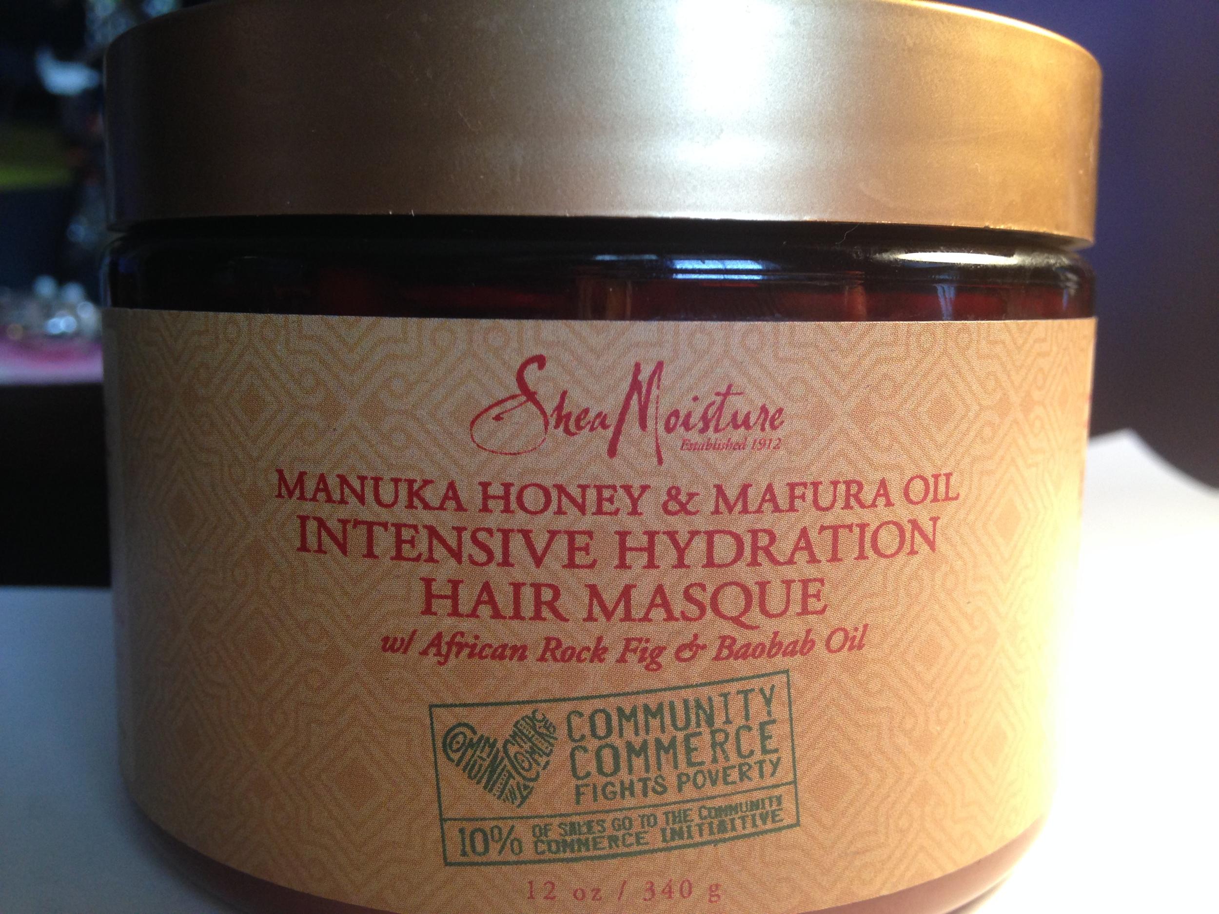 Shea Moisture hydration hair masque