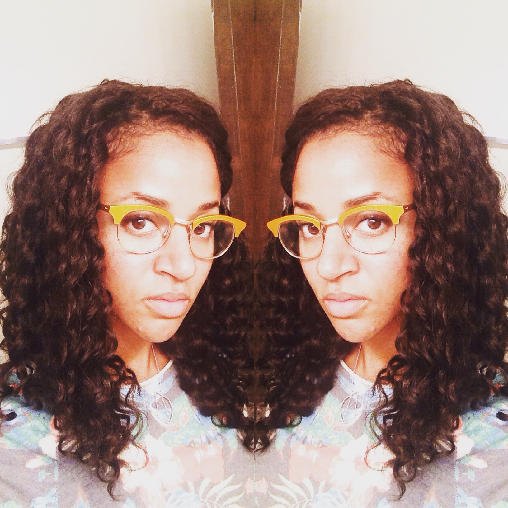 Freetress Deep Twist U-Part Wig with Crochet Braids for the part (no hair left out)