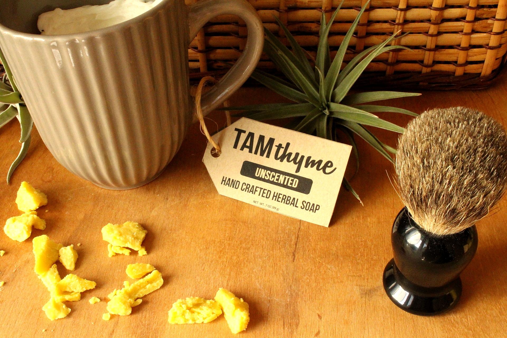 Unscented Shave Soap Mug